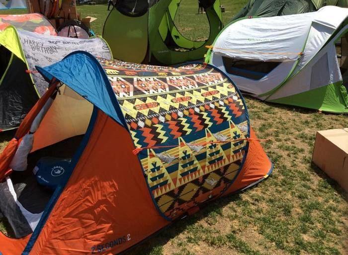 色鮮やかなケシュアのテント