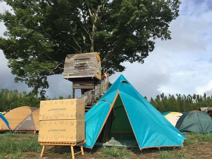hinata trunkを利用したキャンプの様子