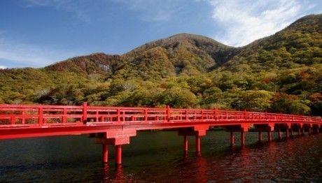 群馬県、赤城山にかかる橋