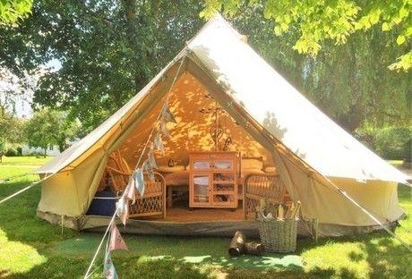 グランピングで使うテントの全体像