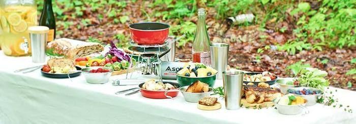 リッケの食器を使ったテーブルコーディネート