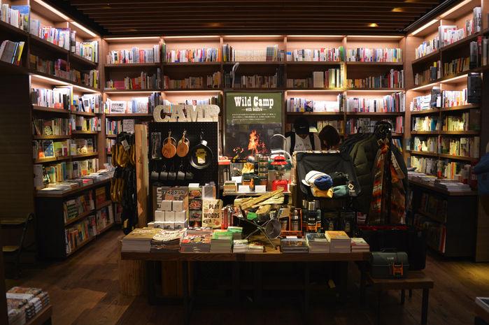 代官山蔦屋書店内の「Wild Camp」フェアの全体観
