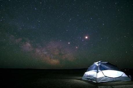 満天の星とたった1つのテント