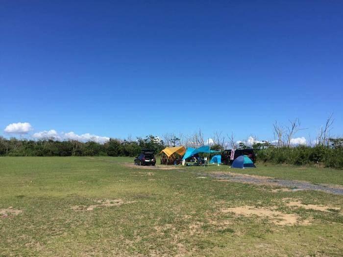 【千葉県旭市】九十九里オートキャンプ場のテントサイト