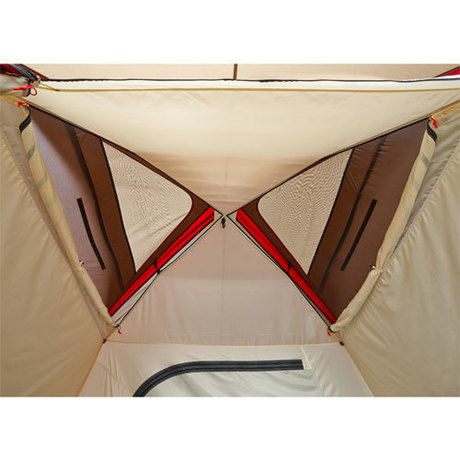 テント上部のメッシュ部分