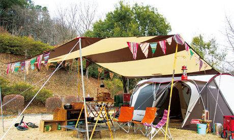 ウェザーマスターの2ルームテント使用例