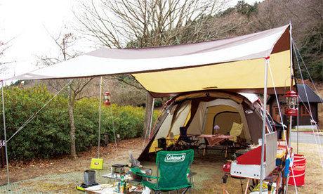 ウェザーマスターの2ルームテントの使用例