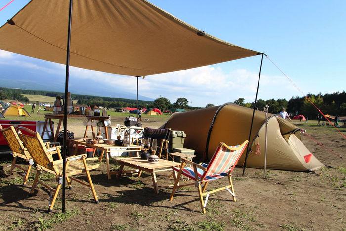ヒルバーグのギアで統一されたテントサイト