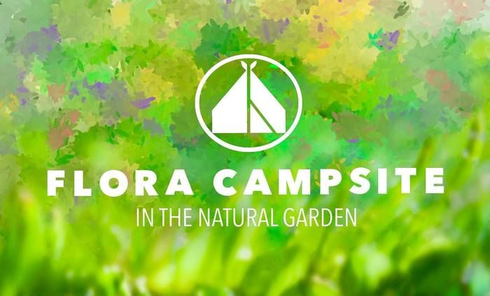 FLORAキャンプサイトのロゴ