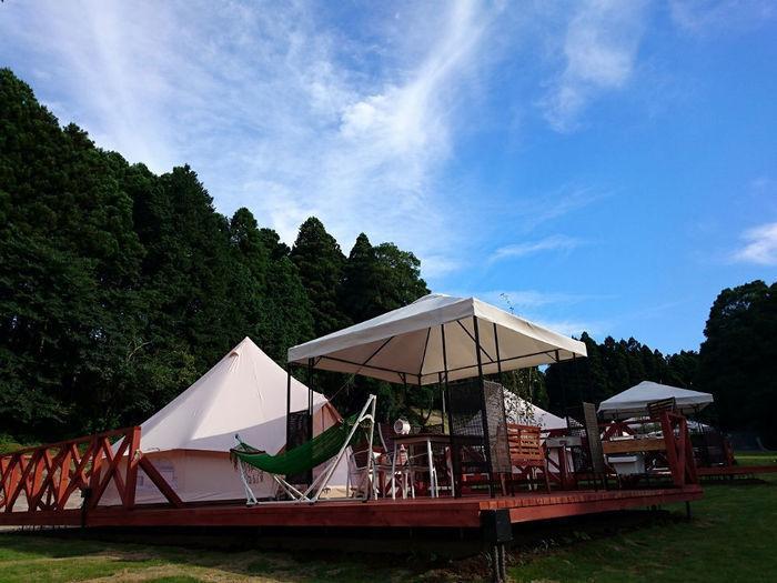 ザファームキャンプのテントサイト