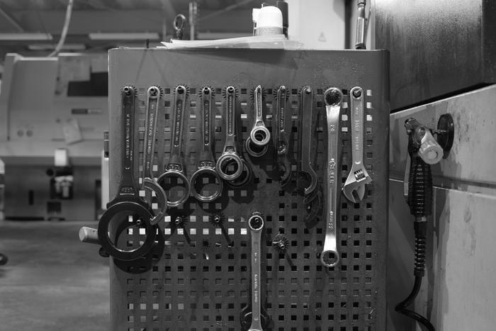 MURACOの金属加工工場の様子