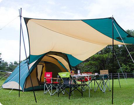 コールマンのギアで統一されたテントサイト