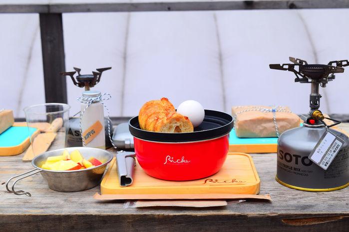 リッケの調理器具とランチ