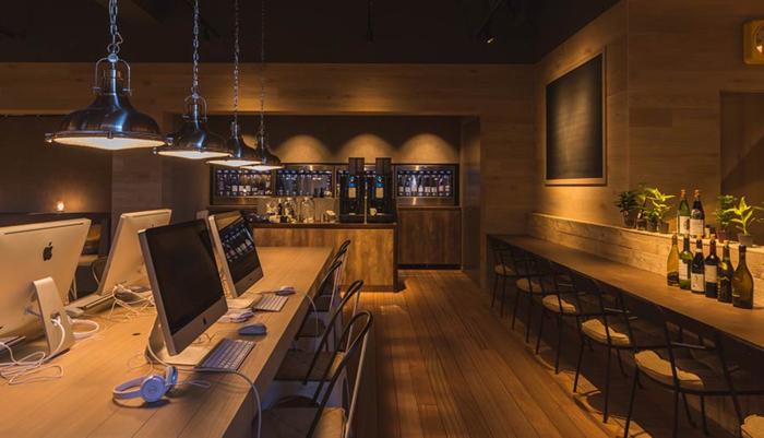 「おふろcafe bivouac」のPC、Wi-Fi施設