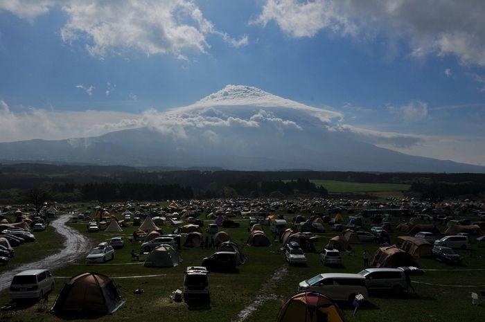 ふもとっぱらキャンプ場のキャンプサイト