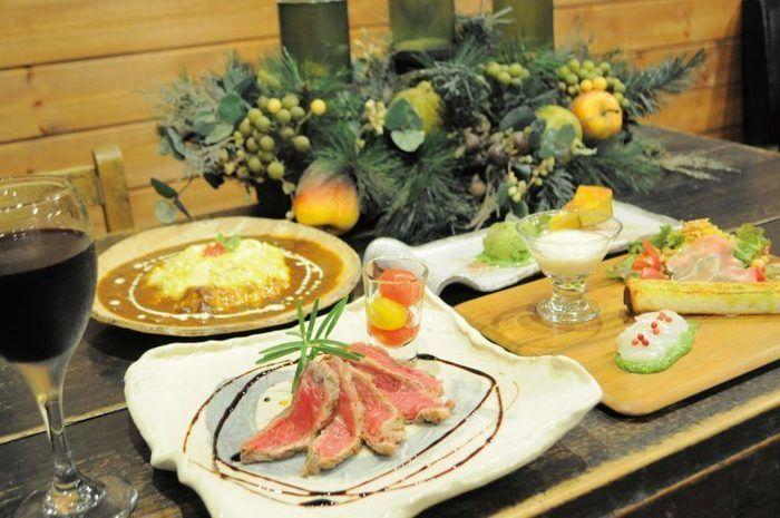 カフェ「Komorebi」のクリスマスディナー
