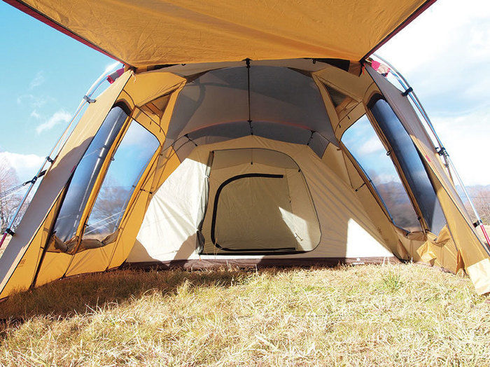 スノーピークのテント、トルテュ ライトの室内