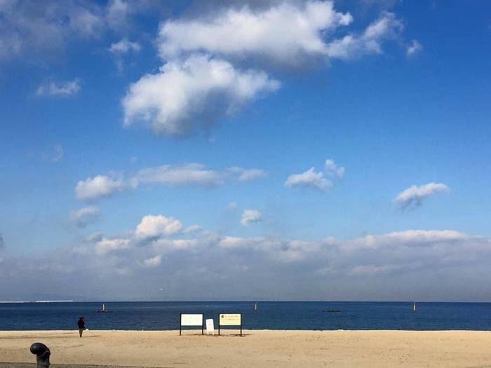 二色の浜公園の海岸沿い