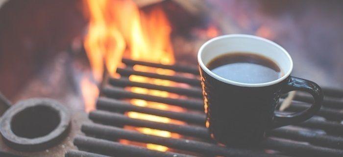 焚き火とコーヒー