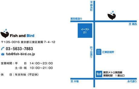 東京都のクライミングジム、Fish and Birdのアクセスマップ