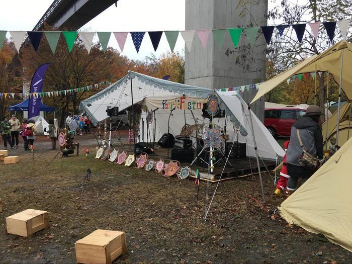 長瀞のペアフェスタの特設ステージ