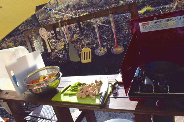 フローラキャンプサイトで借りることが出来る調理器具