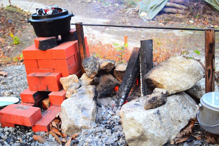 フローラキャンプサイトの直火スペース