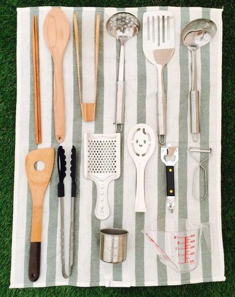 並べられた調理器具