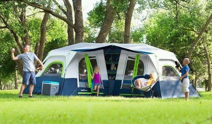 セカイモンのキャンプグッズを使用したキャンプの様子