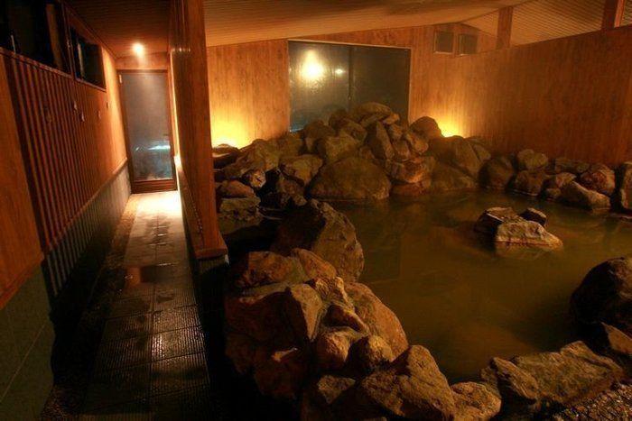 那須高原にあるモンゴリアンビレッジの温泉施設