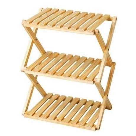 折り畳み式木製ラック3段
