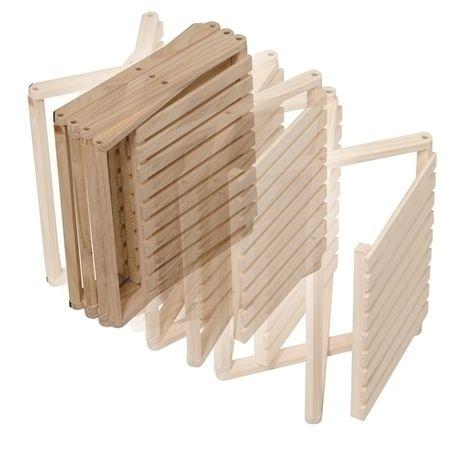 折り畳み式木製ラック4段 ワイドタイプを折りたたんだ様子