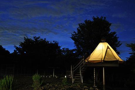 里山グランピングのマッシュルームキャンプ