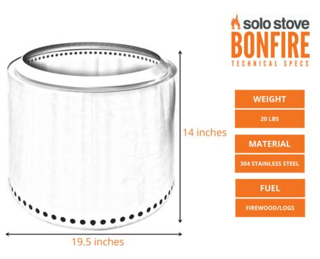 Bonfireのサイズ表