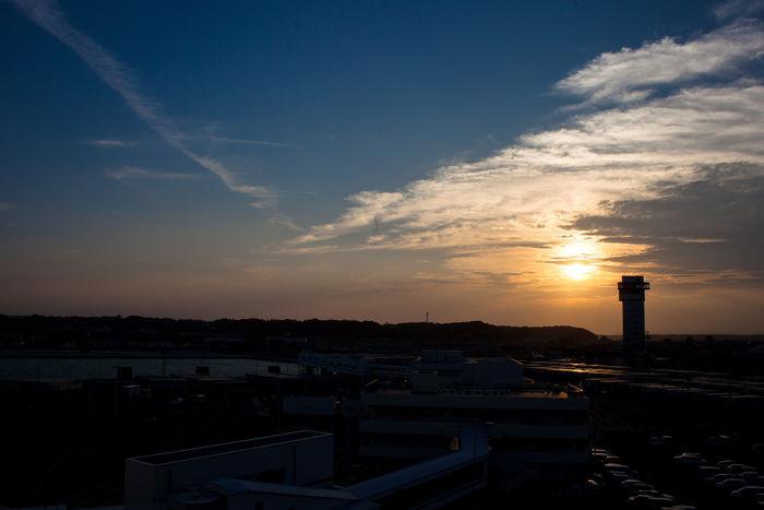 大洗キャンプ場に沈む夕日