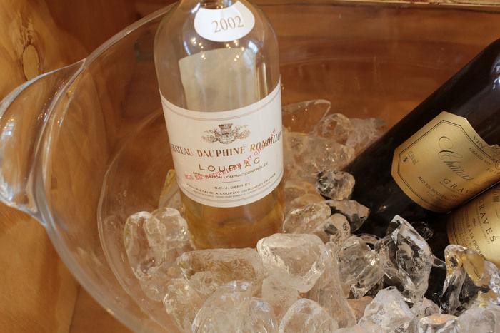 冷やされるワイン