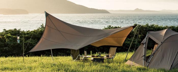 テントと組み合わせたヘキサ Pro.air L