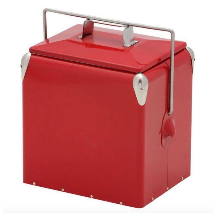 赤いクーラーボックス