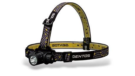ジェントスのサーチライト式形状のヘッドライト