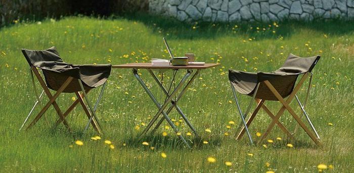 スノーピークのテーブル使用例