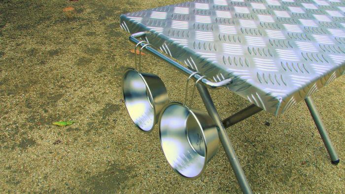 FREEDOMの焚き火テーブル用 縞板天板カバー