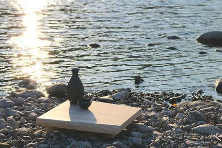 FREEDOMのひのき一枚板miniテーブル
