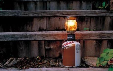 スノーピークのランタンを灯した様子