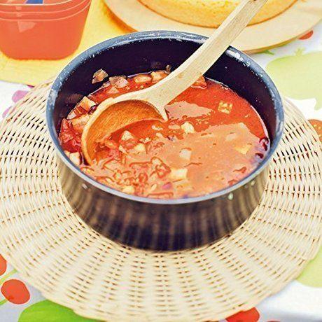 ソーラークッカーで作ったスープ