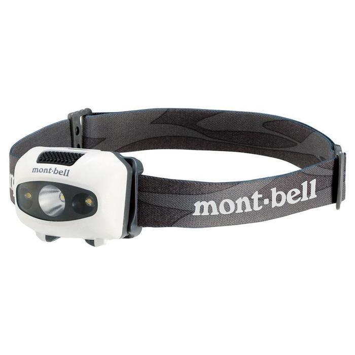 モンベルのコンパクト設計されたヘッドライト
