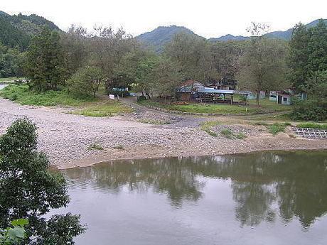 茨城・久慈郡の 上小川キャンプ場