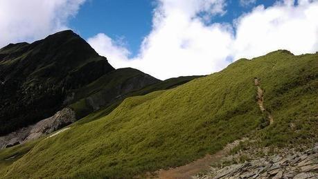 登山中の風景