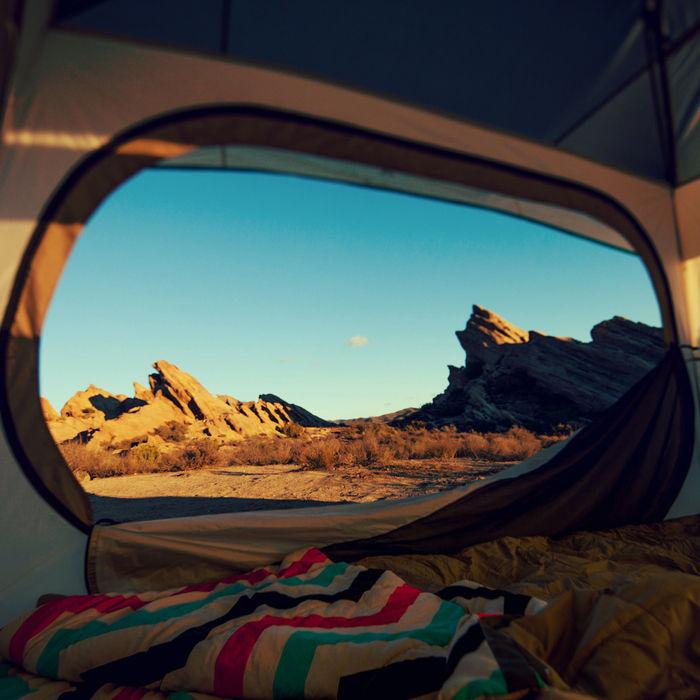 ティクラのテント内から見える外の様子