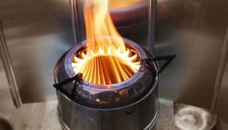 バーナーの火