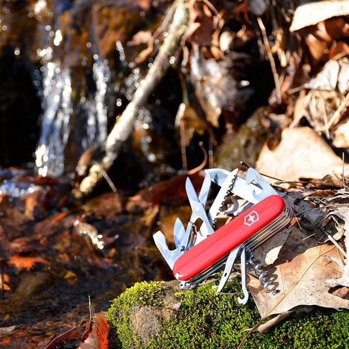 川辺におかれたポケットナイフ